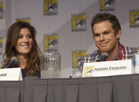 <i>Dexter</i>'s Jennifer Carpenter and Michael C. Hall at Showtime's Anti-Heroes panel discussion