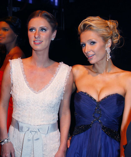 Nicky and Paris Hilton at the Chopard 150th anniversary party