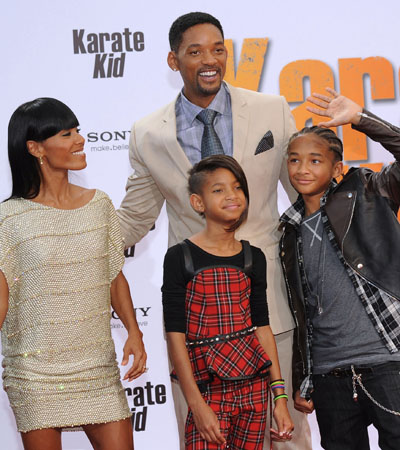Will Smith and Jada Pinkett Smith with kids Willow and Jaden