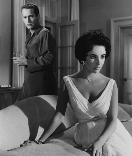 With Paul Newman in Cat on a Hot Tin Roof in 1958.