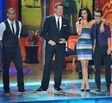 Mark Salling, Cory Monteith, Katy Perry and Kevin McHale