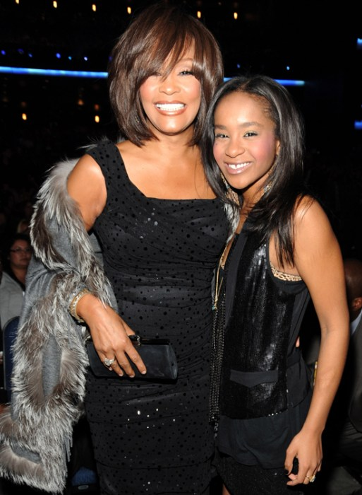 With daughter Bobbi Kristina Brown at the 2009 American Music Awards