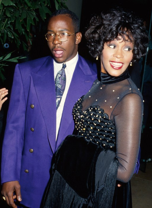 Whitney with Bobby Brown in 1990