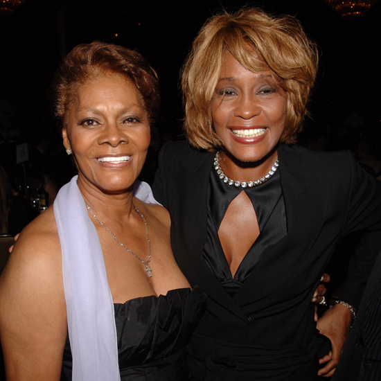 Whitney and her cousin Dionne Warwick in 2006