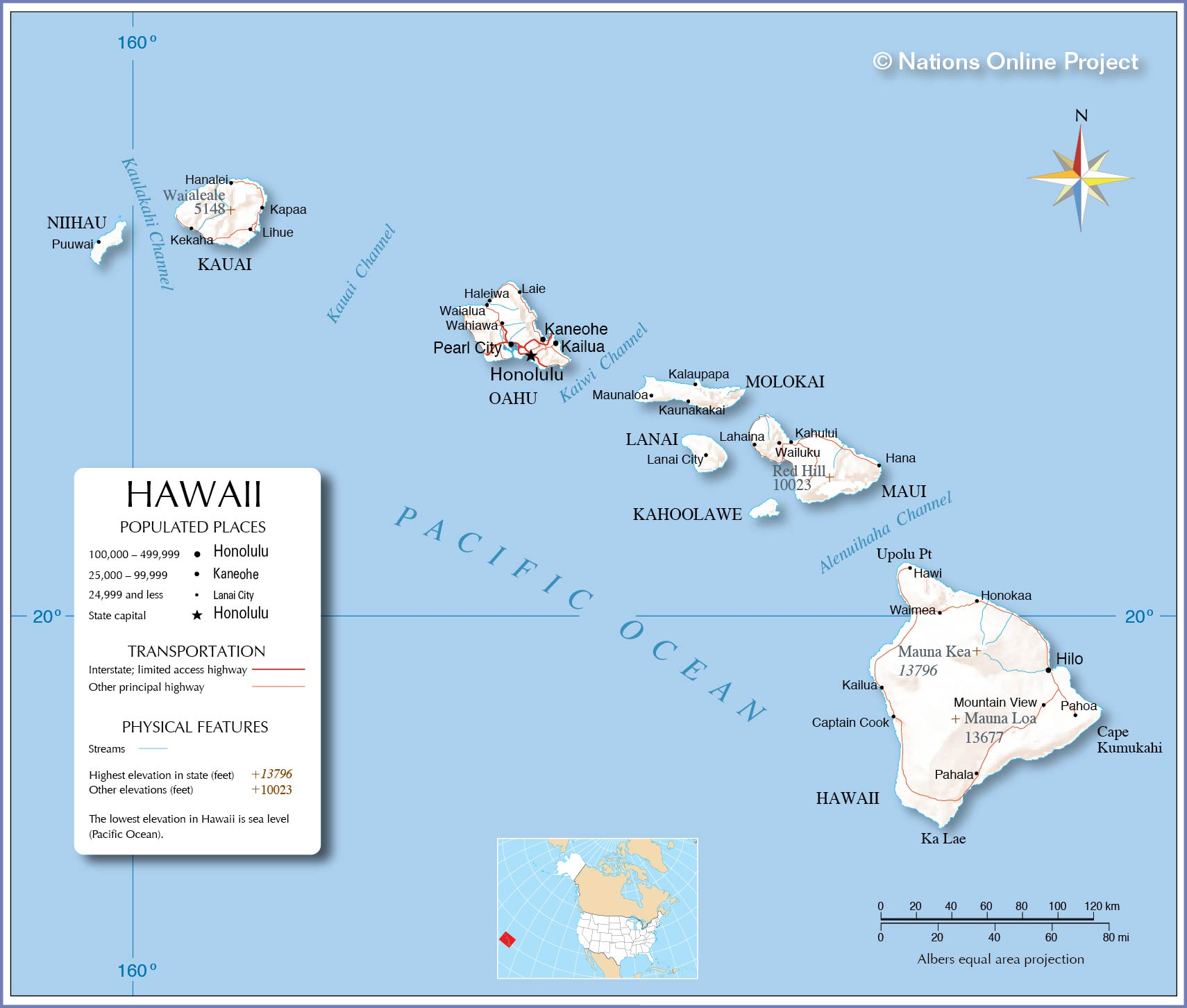 map to hawaii