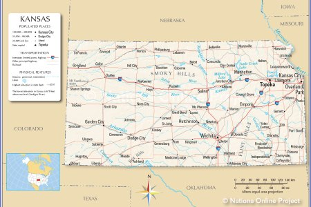 reference map of kansas, usa nations online project