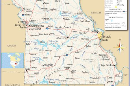 reference map of missouri, usa nations online project