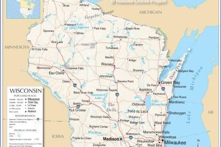 pics photos world map north america usa wisconsin maps