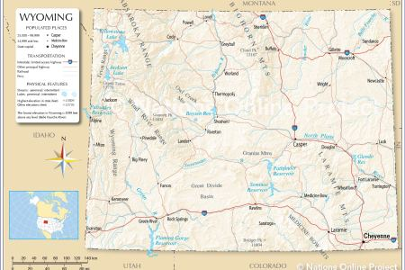 map of wyoming state