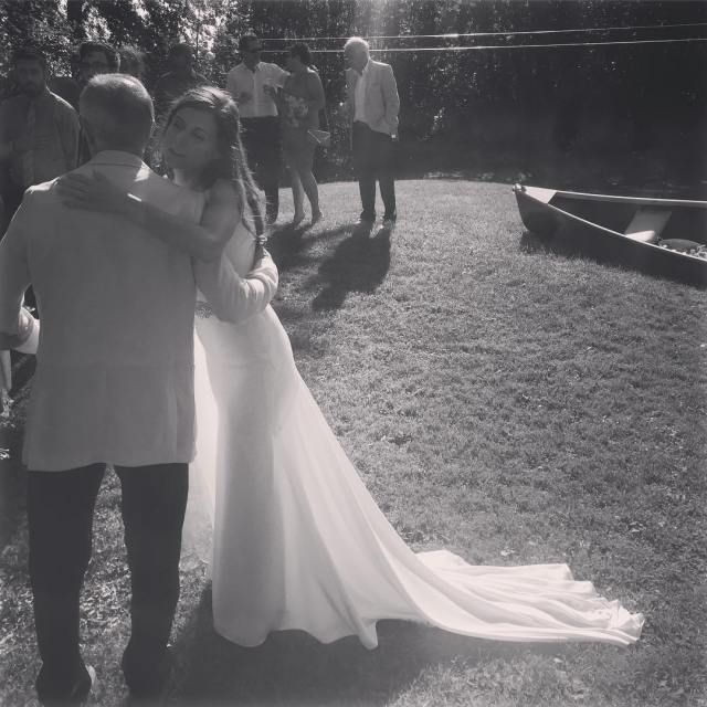 Beautiful bride moment with her new father in law Congratshellip