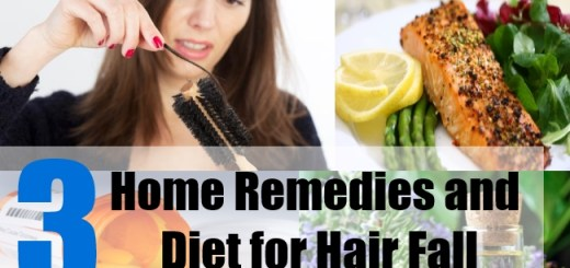 3 Home Remedies and Diet for Hair Fall