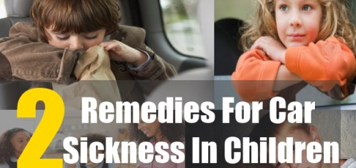 2 Remedies For Car Sickness In Children
