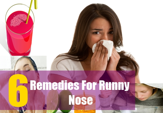 6 Home Remedies For Runny Nose