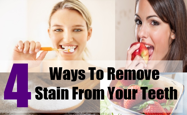 how to clean teeth stains naturally