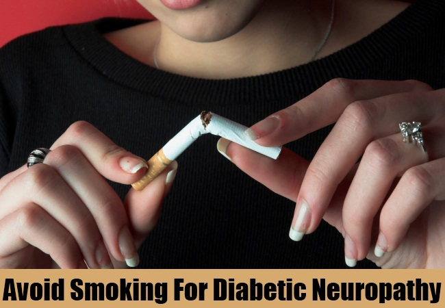 Avoid Smoking For Diabetic Neuropathy