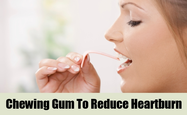 Chewing Gum To Reduce Heartburn