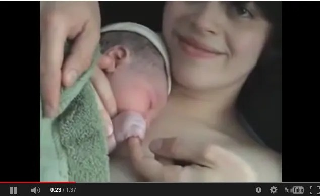 Screenshot from a Birth Video