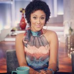 Tamera Mowry Wears Natural Hair on The Real