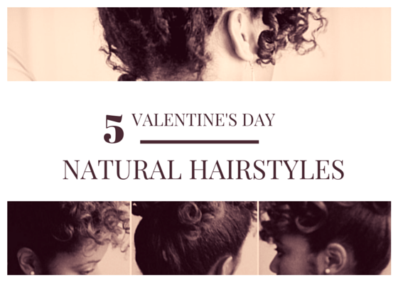 Romantic Valentine's Day Natural Hairstyles