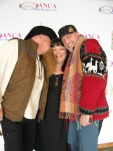 Stand for the B.E.A.R. musicians Tim and Thilo with organizer/founder/philanthropist Leonora Gregory-Collura