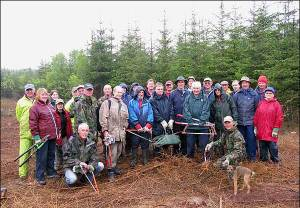 Volunteers with the North York Moors National Park, Howardian Hills AONB and North Yorkshire County Council