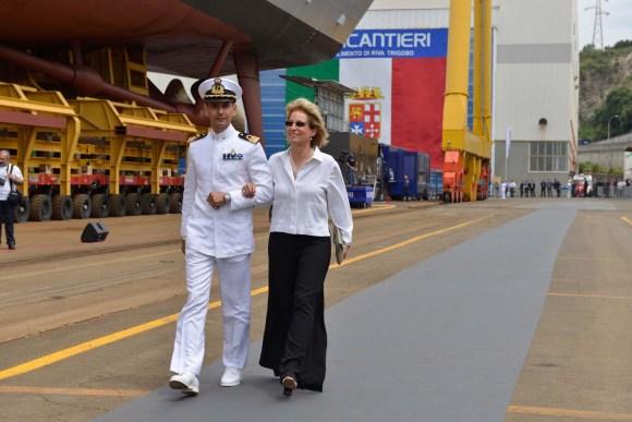 FREMM Carlo Margottini - lançamento 29 junho 2013 - foto 3 Marinha Italiana