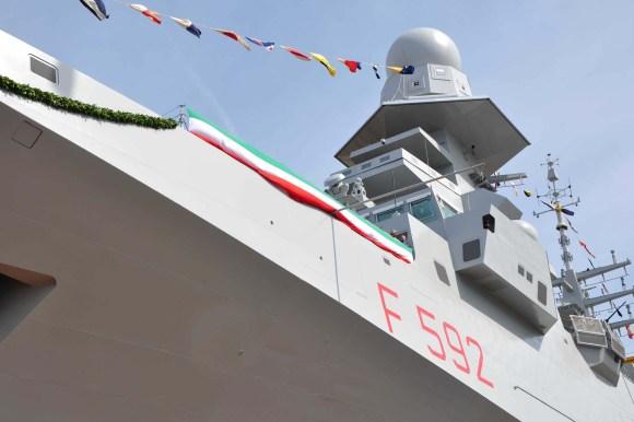 FREMM Carlo Margottini - lançamento 29 junho 2013 - foto 5 Marinha Italiana