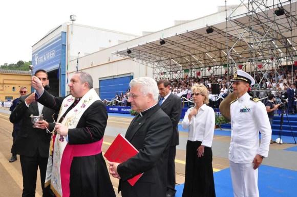 FREMM Carlo Margottini - lançamento 29 junho 2013 - foto 7 Marinha Italiana