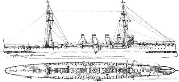 HMS Glasgow - desenho