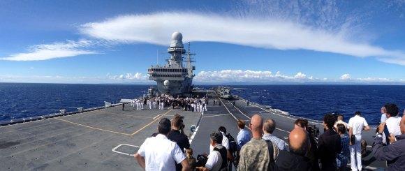 Cavour no Brilliant Mariner 2013 da OTAN - foto Marinha Italiana