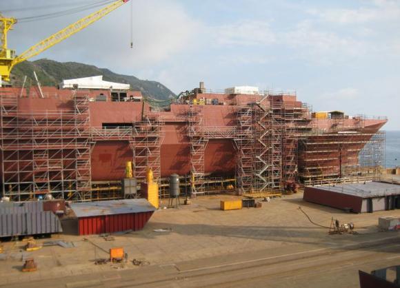 FREMM - construção na Itália - foto Marinha Italiana