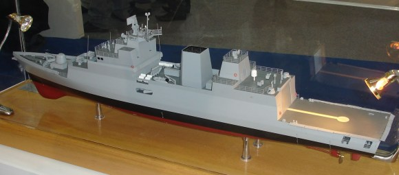 Project 28 ASW corvette with bow-mounted sonar