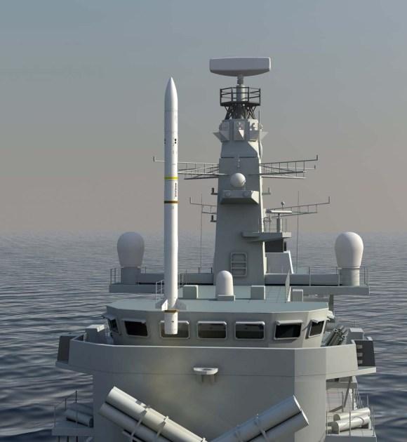 Sea Ceptor - lançamento de Type 23 - imagem MBDA
