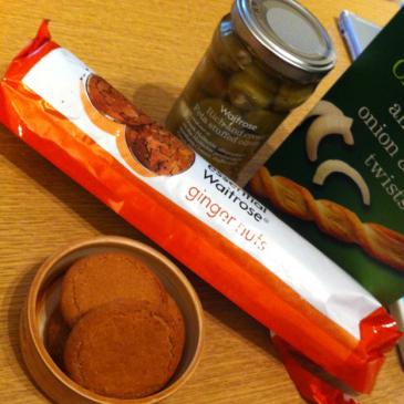 Waitroseのジンジャーナッツクッキー