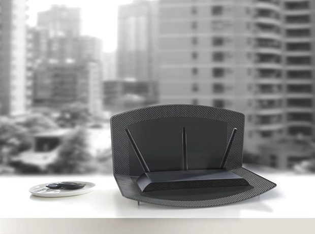 INFLUX Wi-Fi router dock that boosts signal range
