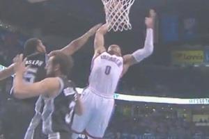 Russell Westbrook Thunder Spurs Playoffs 2014