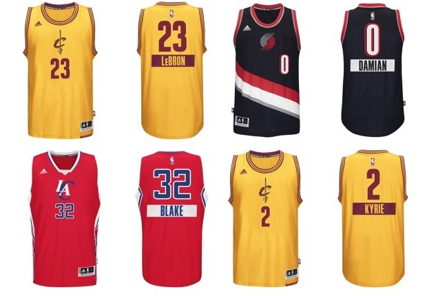 camisetas jerseys NBA adidas Navidad 2014