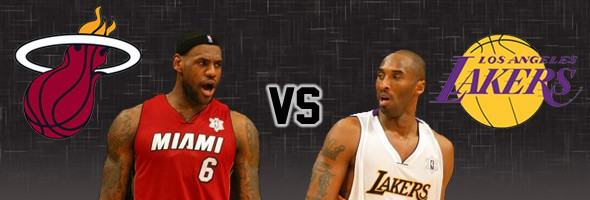 LeBron vs Kobe, hoy Lakers vs Heat