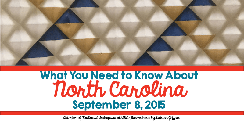 What You Need to Know About North Carolina for September 8, 2015