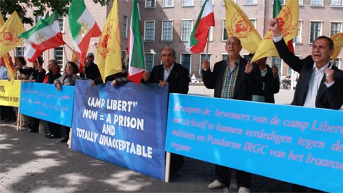Supporters of the PMOI in The Hague