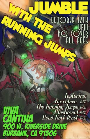 The Running Jumps gig poster