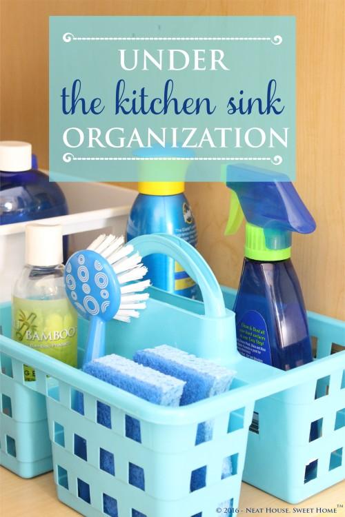 Under the Kitchen Sink Organization - Week 6