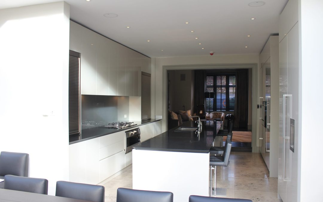 Truly Bespoke High Gloss Shark Kitchen Wimbledon Neil Norton Design
