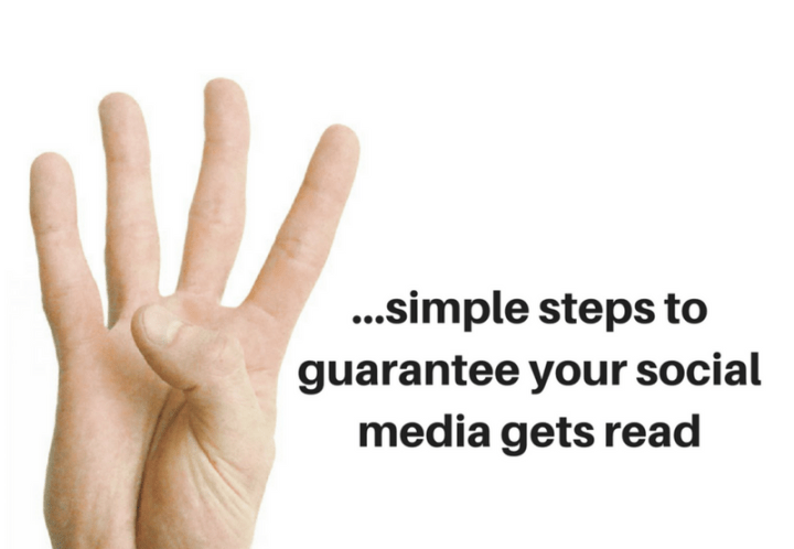 Learn how to get your social media read, more of the time by following the four simple steps contained in this short article.