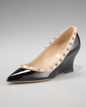 Valentino Rockstud Wedge Pump
