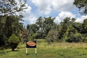"""Vacant land in suburbs with """"Lot for Sale"""" sign"""
