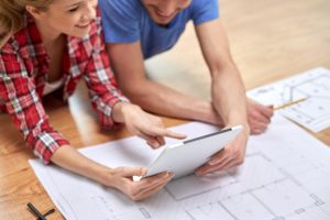 couple starting a home remodel