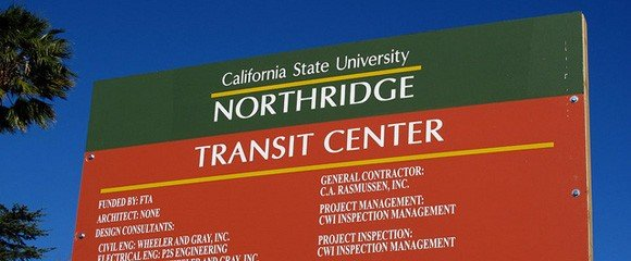 CSUN Transit Station Opens