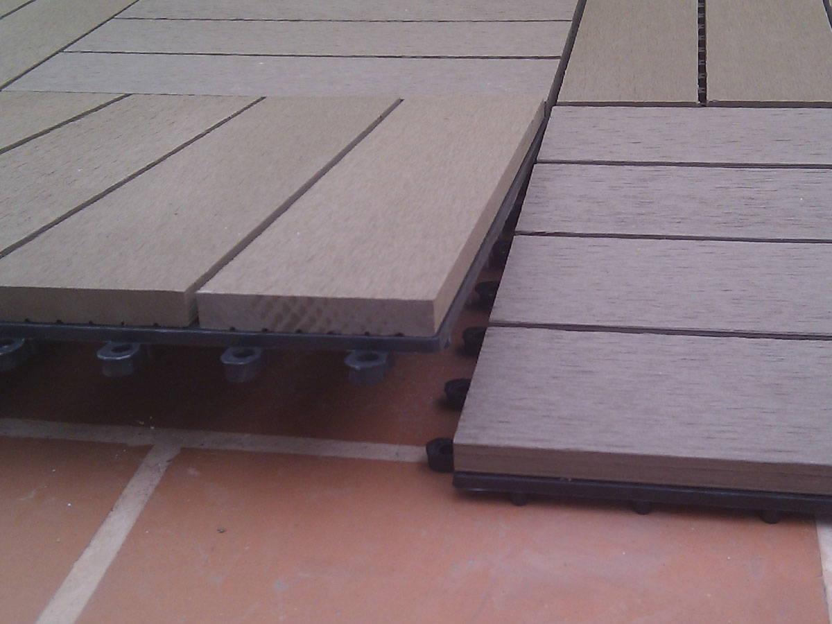 Baldosa de jardin el suelo composite m s f cil de instalar - Suelos de composite ...