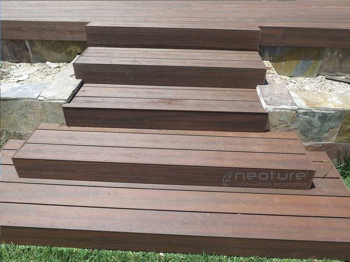 Tarima exterior madera sintetica sin mantenimiento - Baldosa madera exterior ...